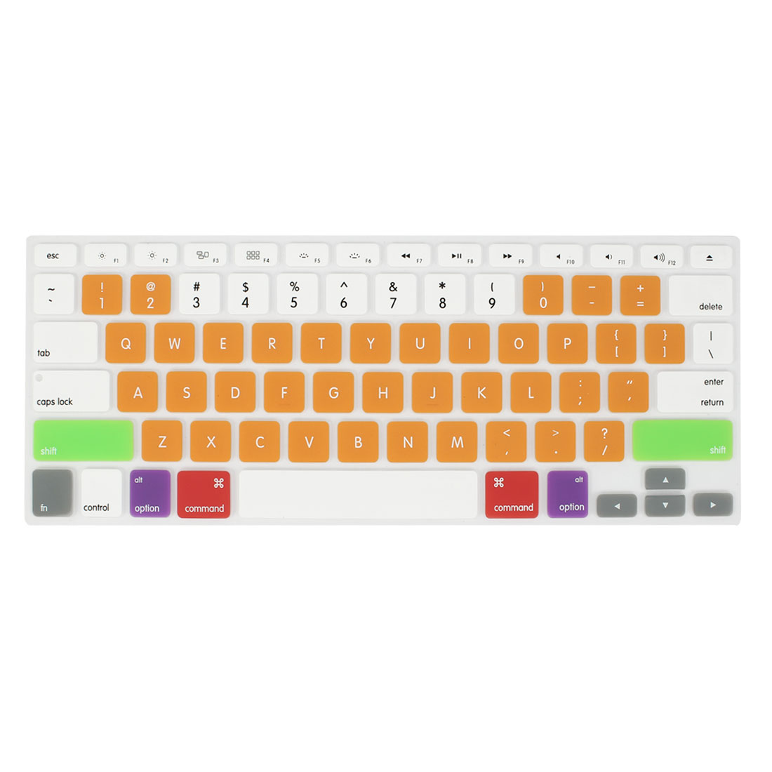 Colorful Orange Silicone PC Keyboard Film Protector for Apple MacBook Air 13.3""