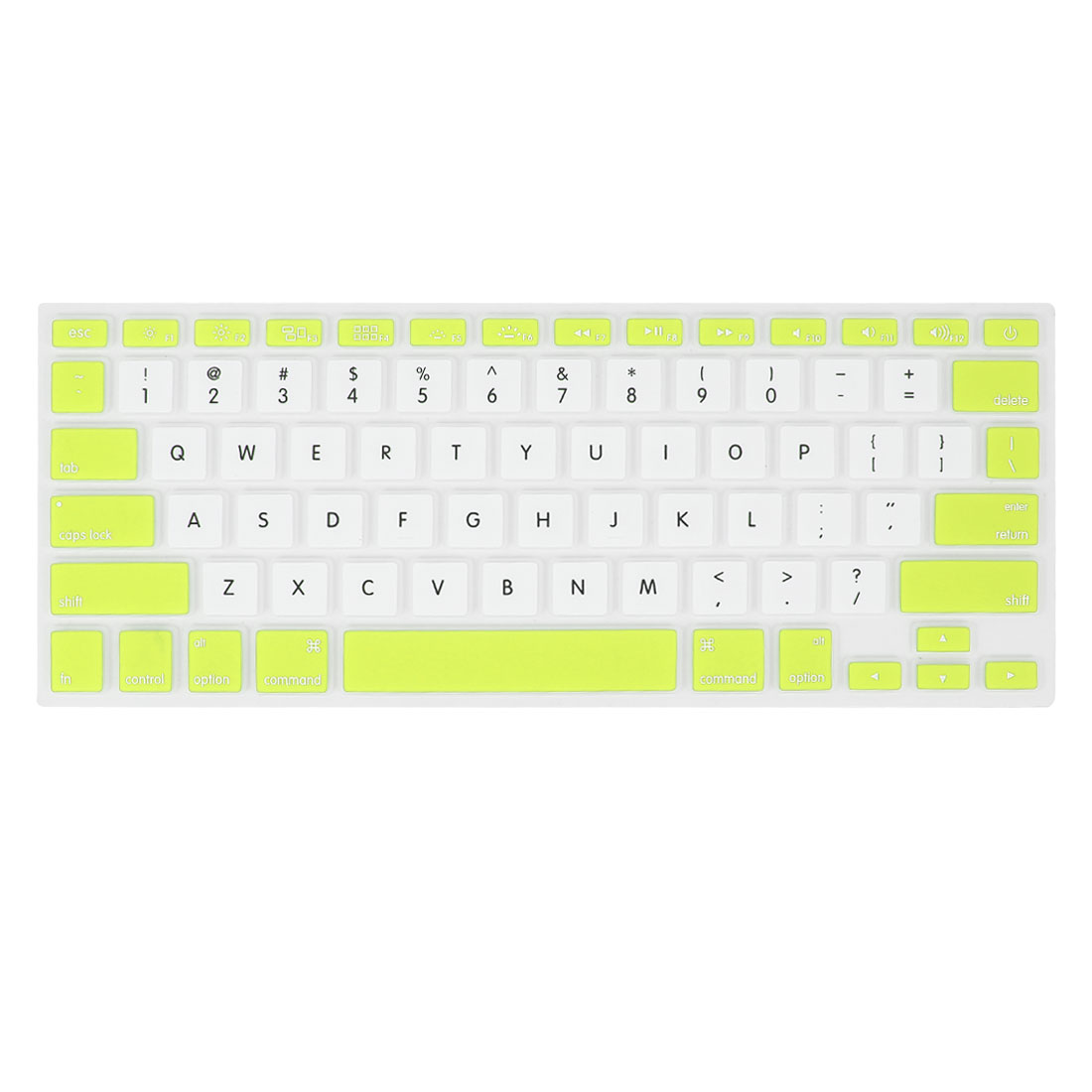 White Green Silicone PC Keyboard Film Skin Protector for Apple MacBook Air 13.3""
