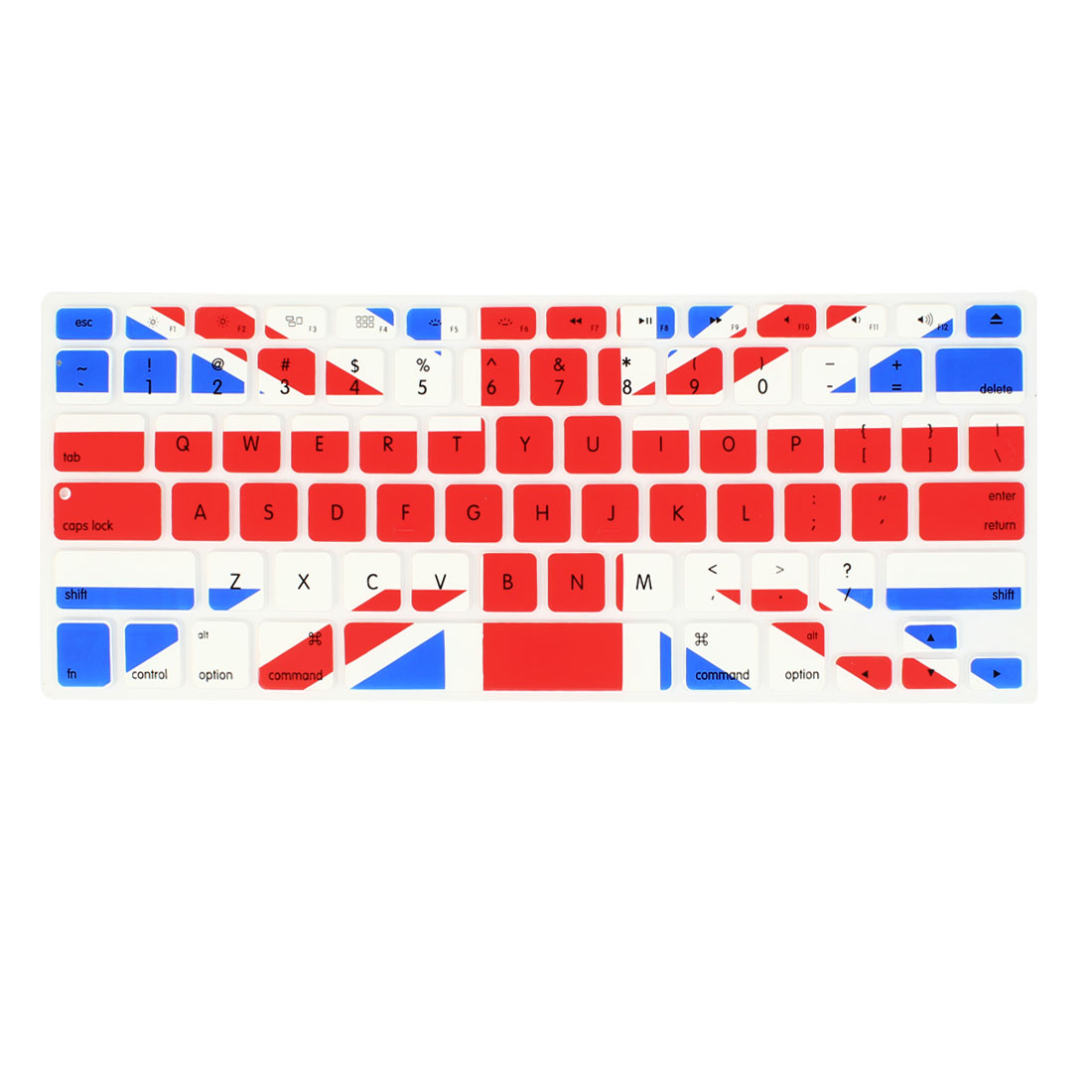 UK Flag Prints Silicone Keyboard Skin Film Protector for Apple MacBook Air 13.3""