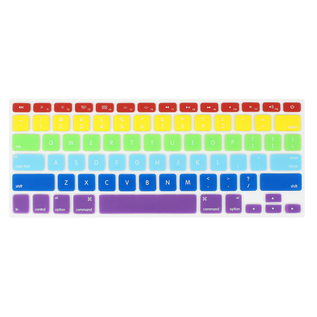 Assorted Color Rainbow Keyboard Film Cover Protector for Apple MacBook Air 13.3""