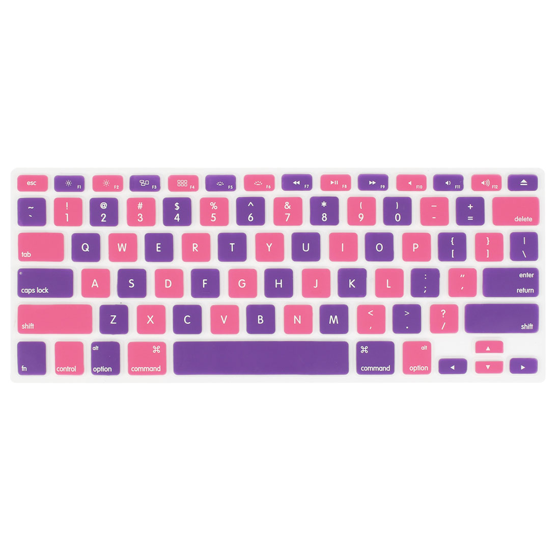Soft Film Keyboard Cover Skin Protector Pink Purple for Apple MacBook Air 13.3""