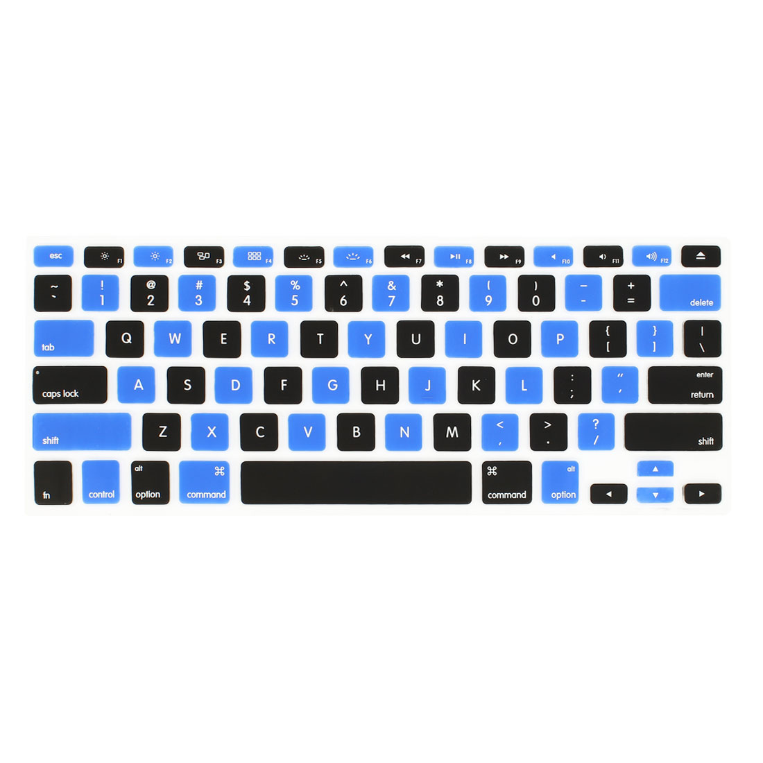 PC Keyboard Cover Film Skin Protector Black Blue for Apple MacBook Air 13.3-inch