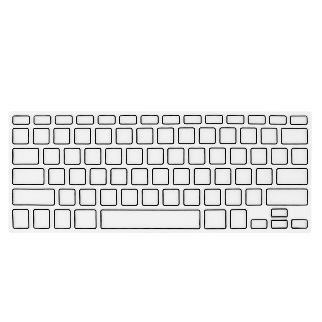 Black Clear Film PC Keyboard Cover Skin Protector for Apple MacBook Air 13.3""