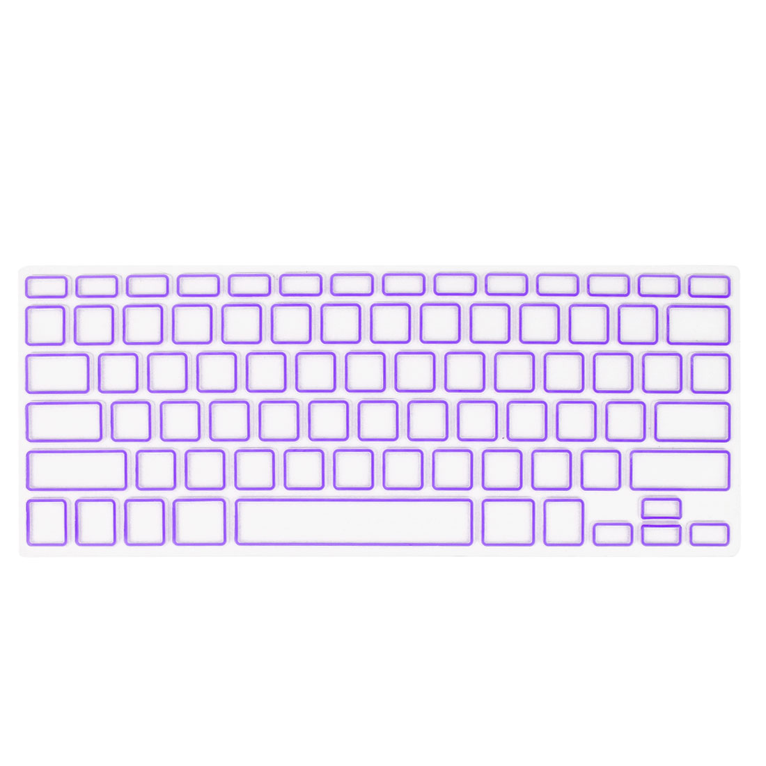 Purple Clear Silicone Film Keyboard Cover Protector for Apple MacBook Air 13.3""