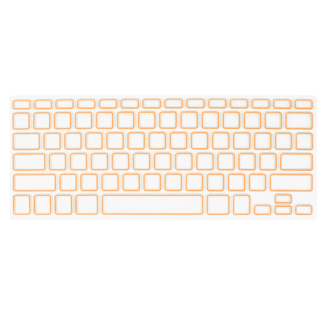 Orange Clear Silicone Film Keyboard Cover Protector for Apple MacBook Air 13.3""