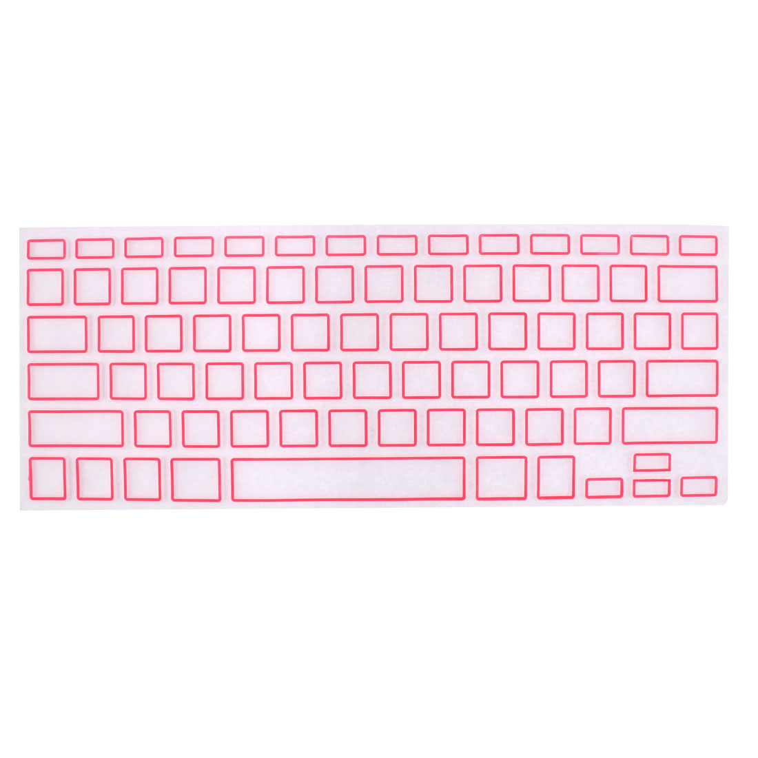 Silicone Laptop Keyboard Protector Film Pink Clear for Apple MacBook Air 13.3""