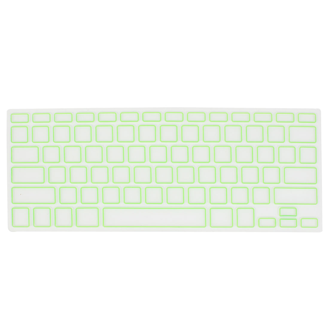 Green Clear Silicone Film PC Keyboard Skin Protector for Apple MacBook Air 13.3""