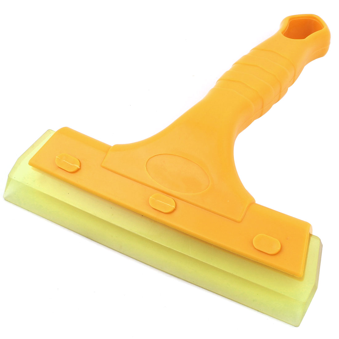 Car Windshield Yellow Plastic Nonslip Handle Film Sticker Cleaning Scraper Tool