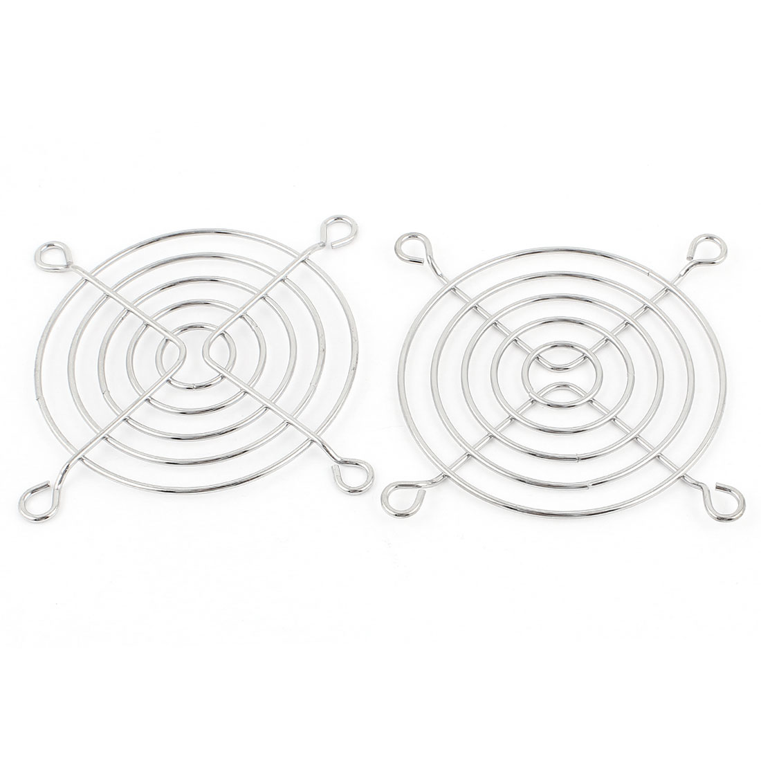 2 Pcs Metal Wire Finger Guard Protect Grill for 70mm Computer PC Cooling Fan