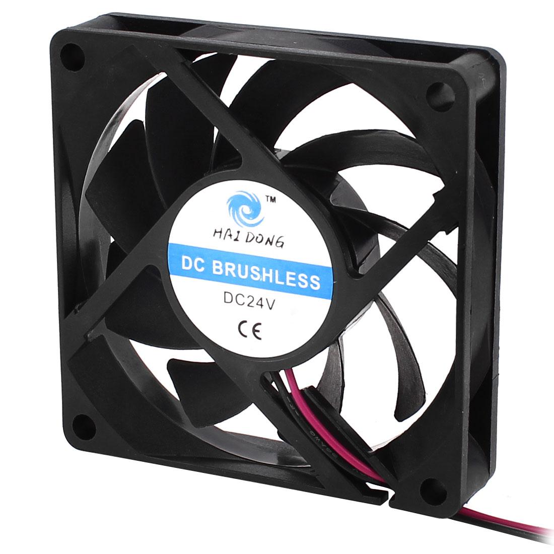 70mm x 15mm 7015 Brushless Cooling Fan DC 24V for Computer Case CPU Cooler