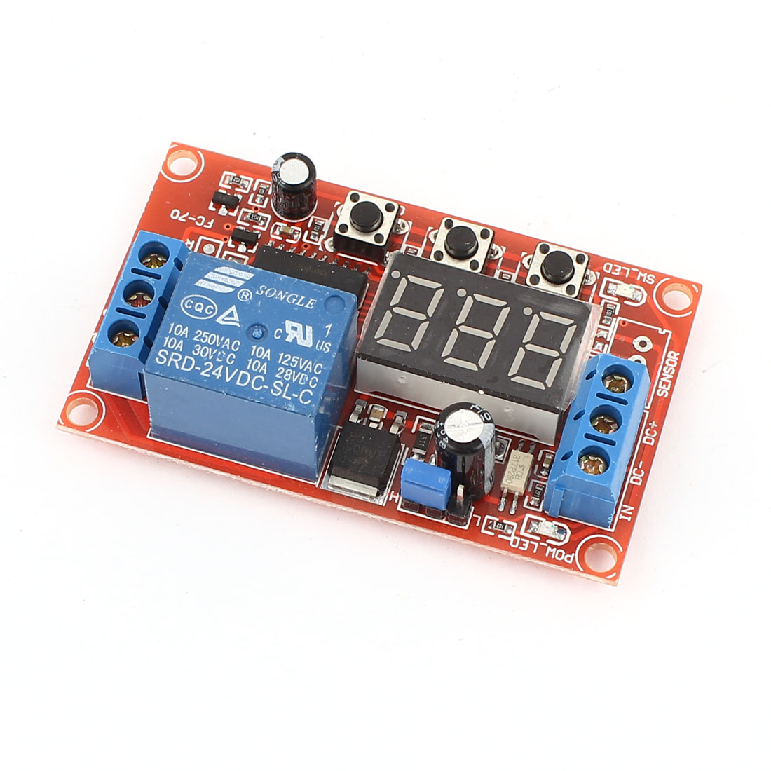 Digital Display Relay Cycle Timer Module PLC Home Automation Delay DC 24V