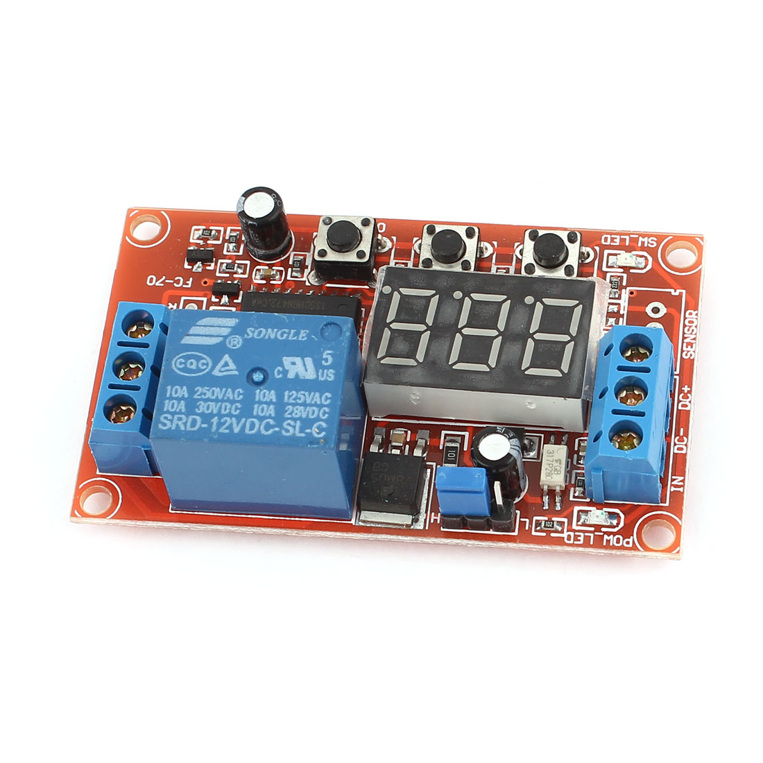 DC 12V Digital Display Trigger Cycle Time Delay Relay Module Board