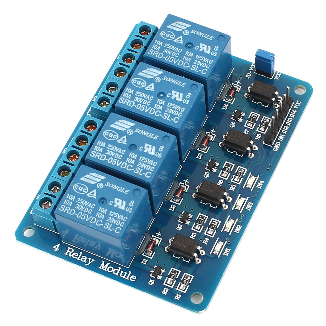 DC 5V 4 Channel Relay Module Optocoupler for PIC AVR DSP ARM