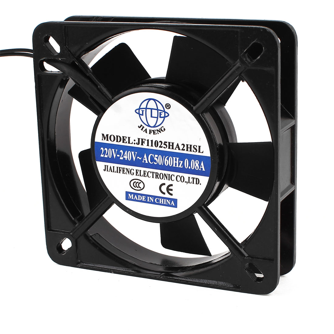AC 220V-240V 0.08A 2 Wires Sleeve Bearing Axial Cooling Fan 110mm x 25mm 11025