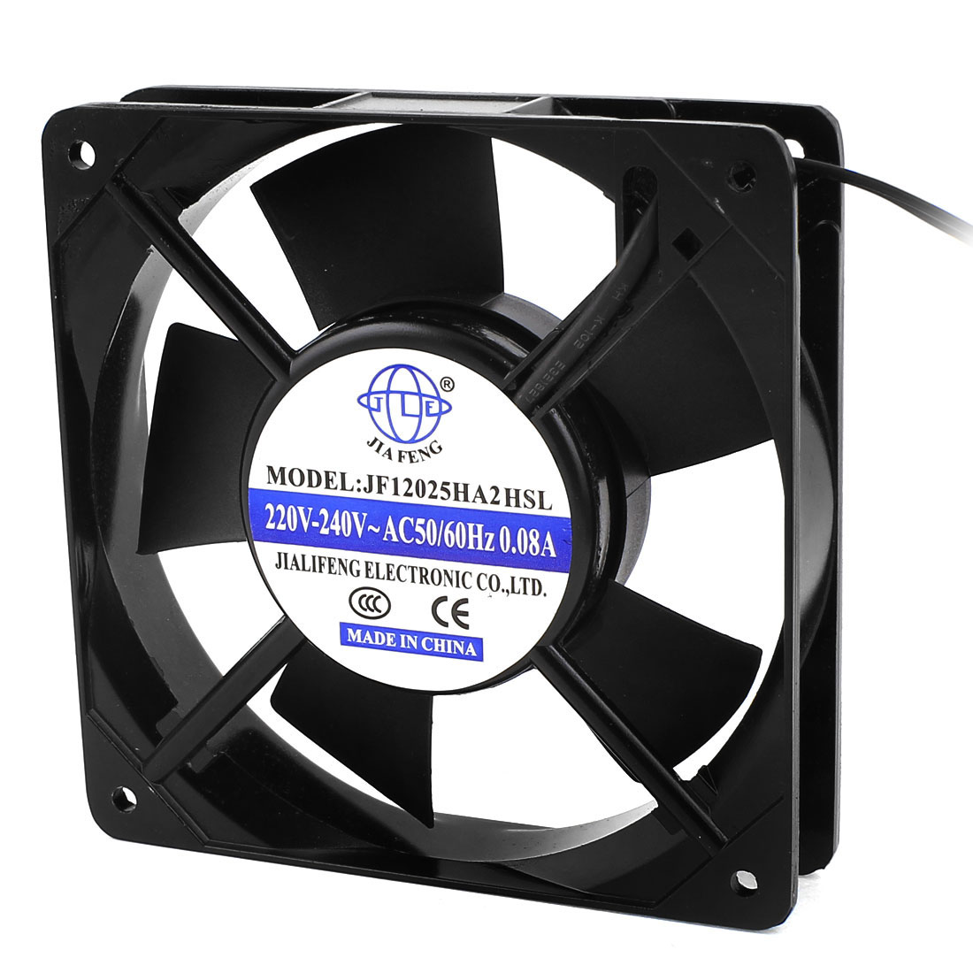 AC 220V-240V 0.08A 2 Wires Sleeve Bearing Axial Cooling Fan 120mm x 25mm 12025