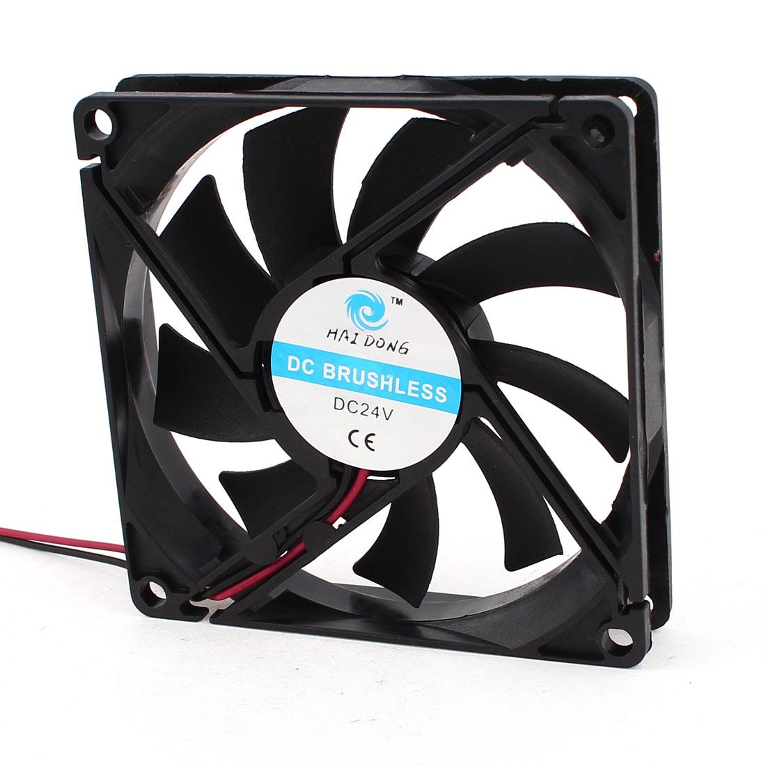 80mm x 15mm 8015 Brushless Cooling Fan DC 24V for Computer Case CPU Cooler