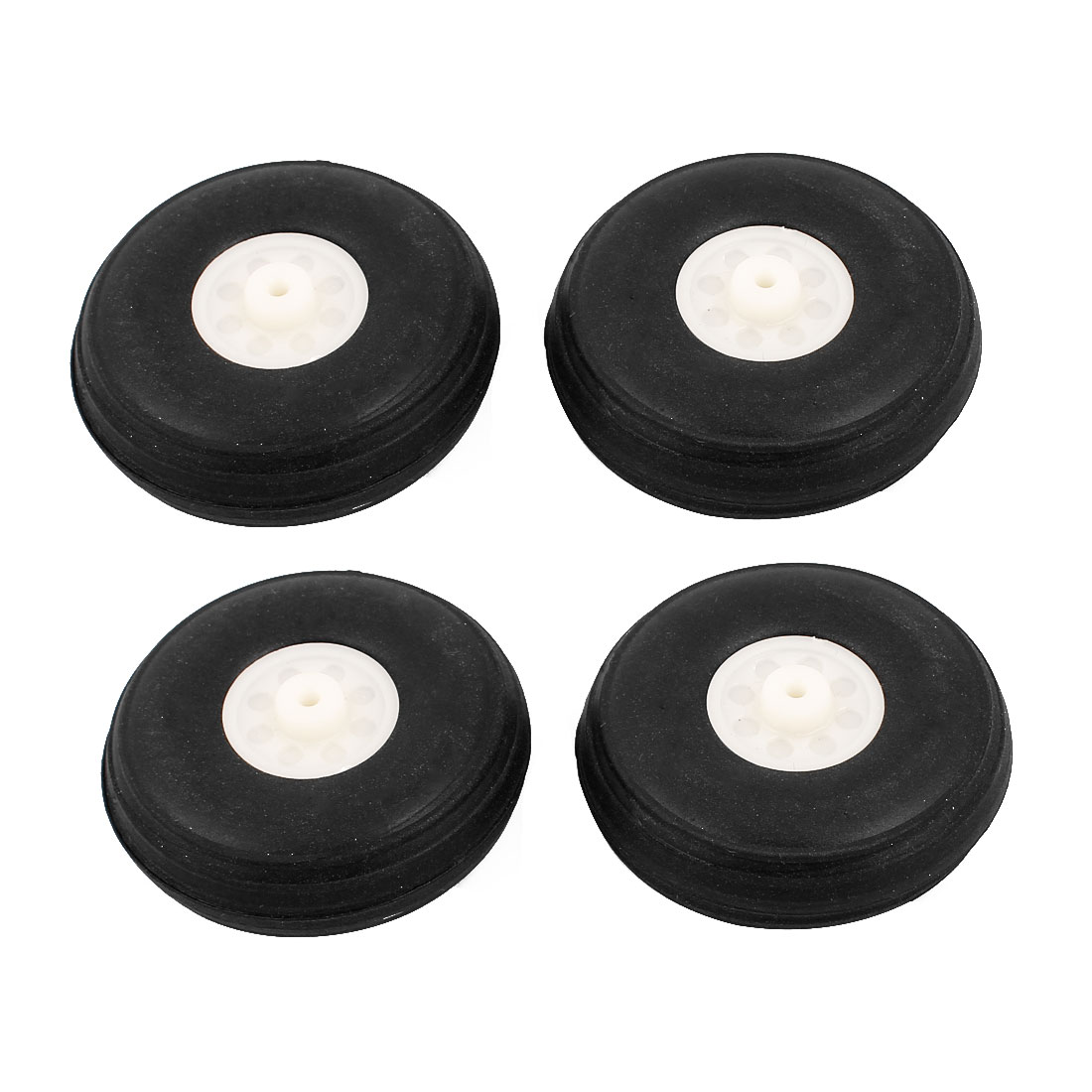 DIY RC Airplane Aircraft Landing Robot Part Black Rubber Wheel Tire Tyre 44mm x 16mm 4Pcs