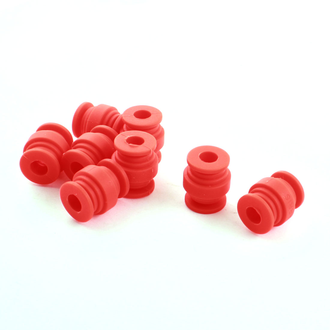 8 Pcs 8mm Dia 20mm Height Red Rubber Shock Absorption Anti Vibration Damping Ball for FPV Gimbal Camera Mount