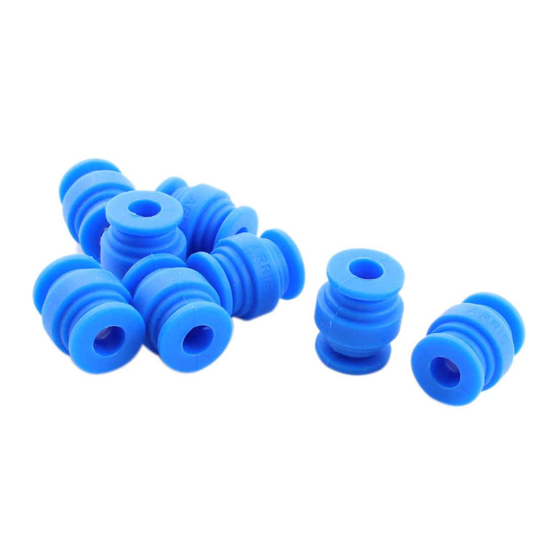 8 Pcs 8mm x 20mm Blue Rubber Shock Absorption Anti Vibration Damping Ball for FPV Gimbal Camera Mount
