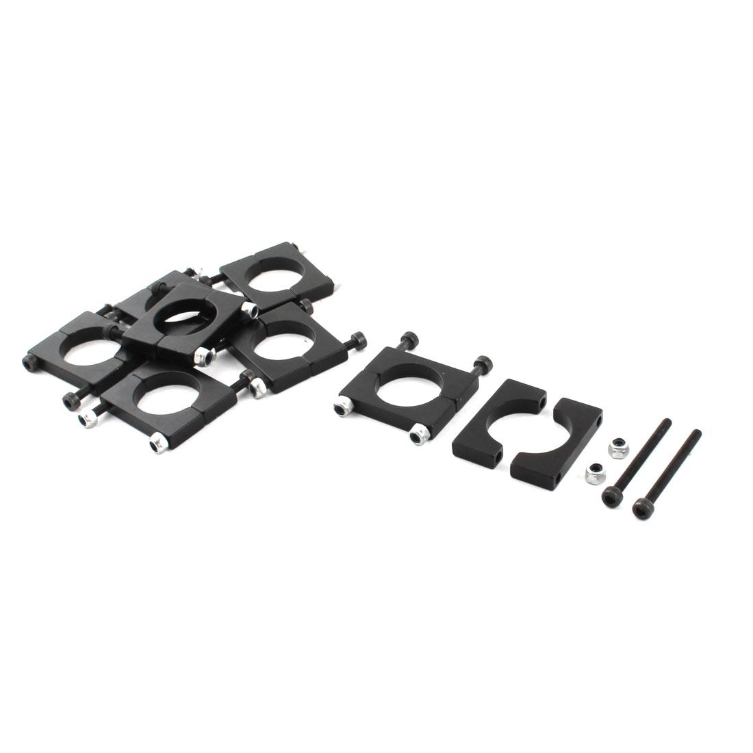 8Pcs 16mm Black Aluminum Clamp for Carbon Fiber Tube RC Quadcopter Hexrcopter