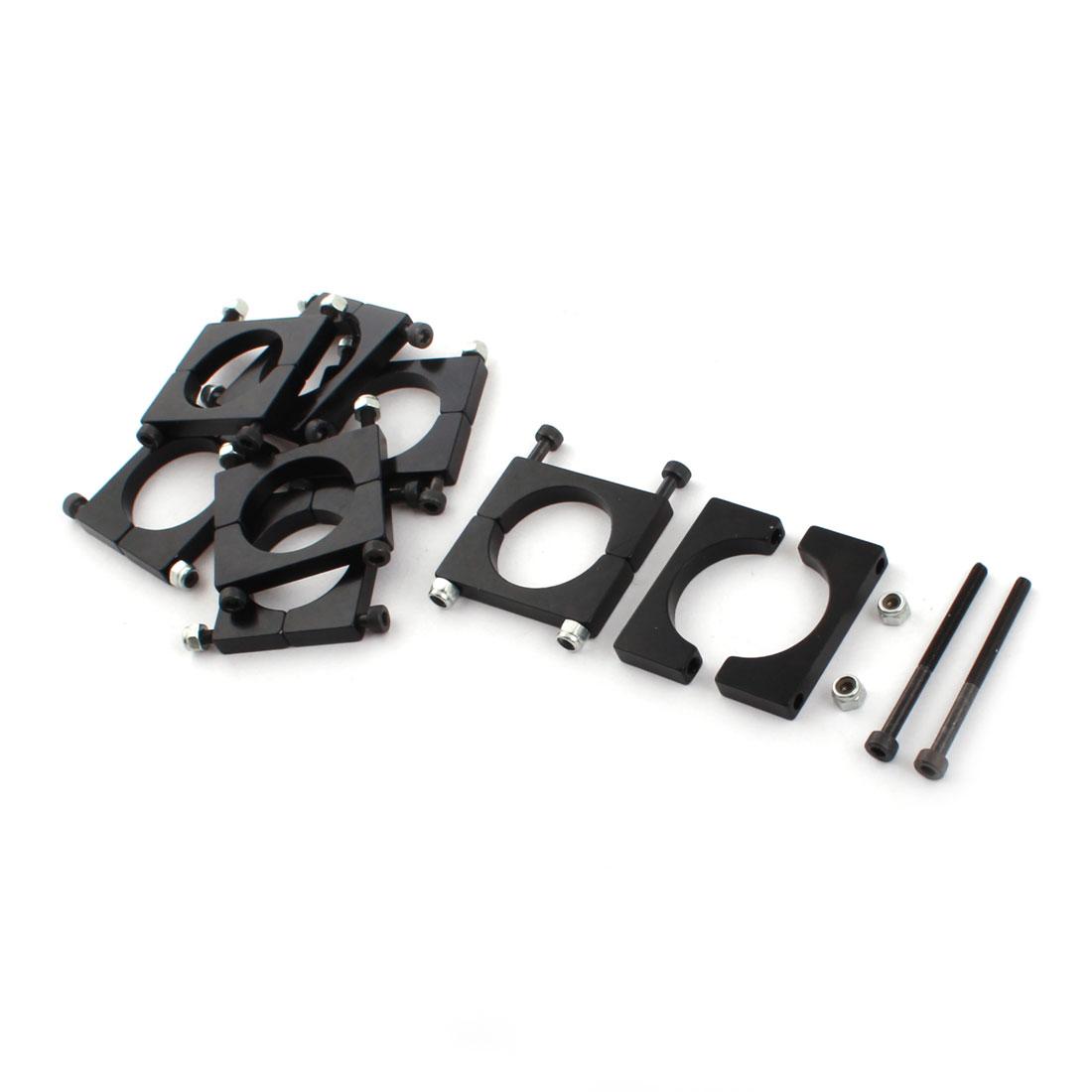 8 Pcs 25mm Black Aluminum Clamp for Carbon Fiber Tube RC Quadcopter Hexrcopter