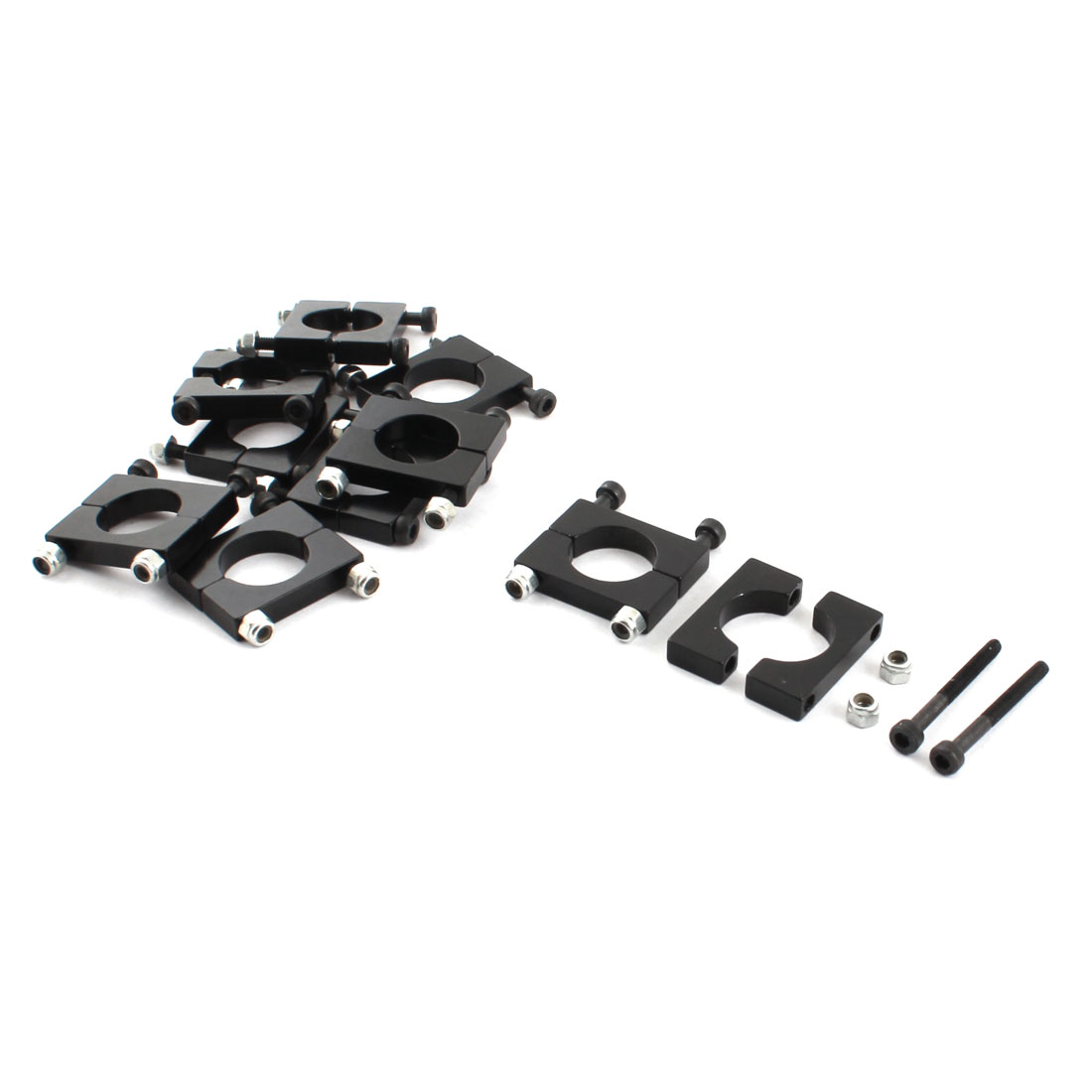 10Pcs 16mm Dia Black Aluminum Clamp Clip Fastener for Carbon Fiber Tube RC Quadcopter Hexrcopter
