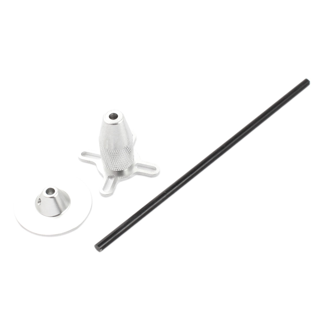 4mm Silver Tone Aluminum Alloy RC Multi-rotor GPS Foldable Antenna Holder Bracket Mount Fitting Base Set