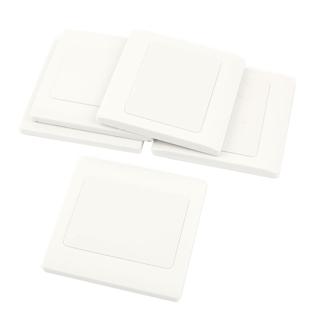 5 Pcs Home Office White Plastic Switch Socket Panel Blank Wall Plate 86x86mm