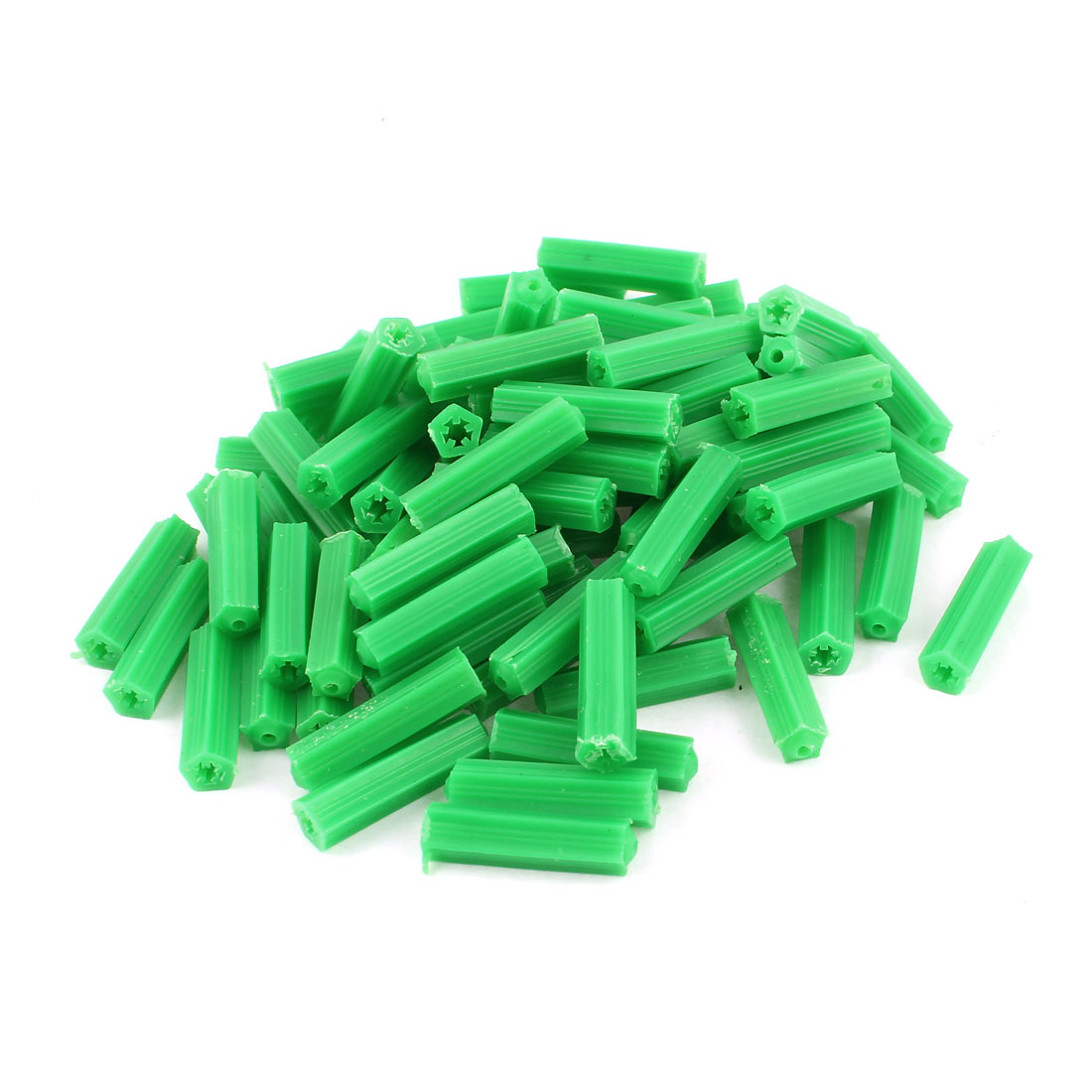 85 Pcs Green Plastic Masonry Screw Fixing Wall Anchor 8mm x 23mm