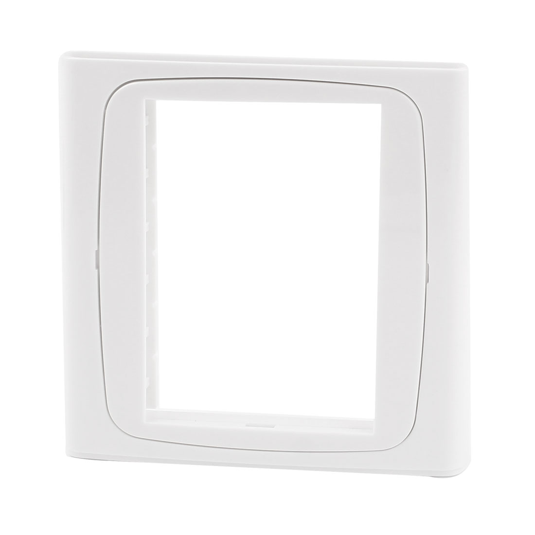 Home Office White Plastic 3 Gang Switch Socket Panel Blank Wall Plate 86x86mm