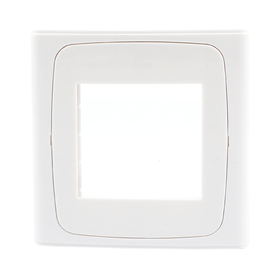 Home Office White Plastic Double Switch Socket Panel Blank Wall Plate 86x86mm