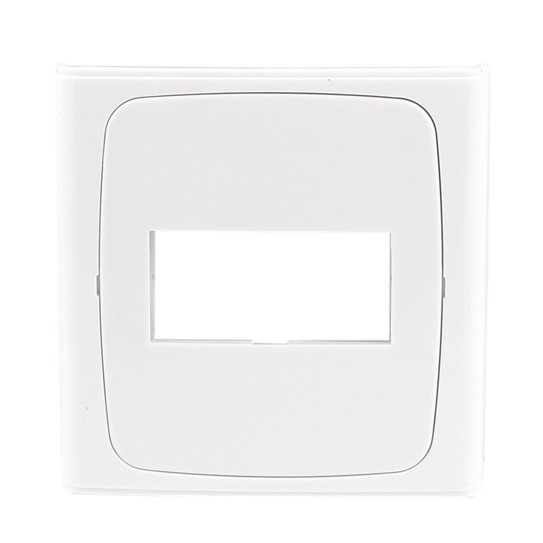 Home Office White Plastic Single Switch Socket Panel Blank Wall Plate 86x86mm