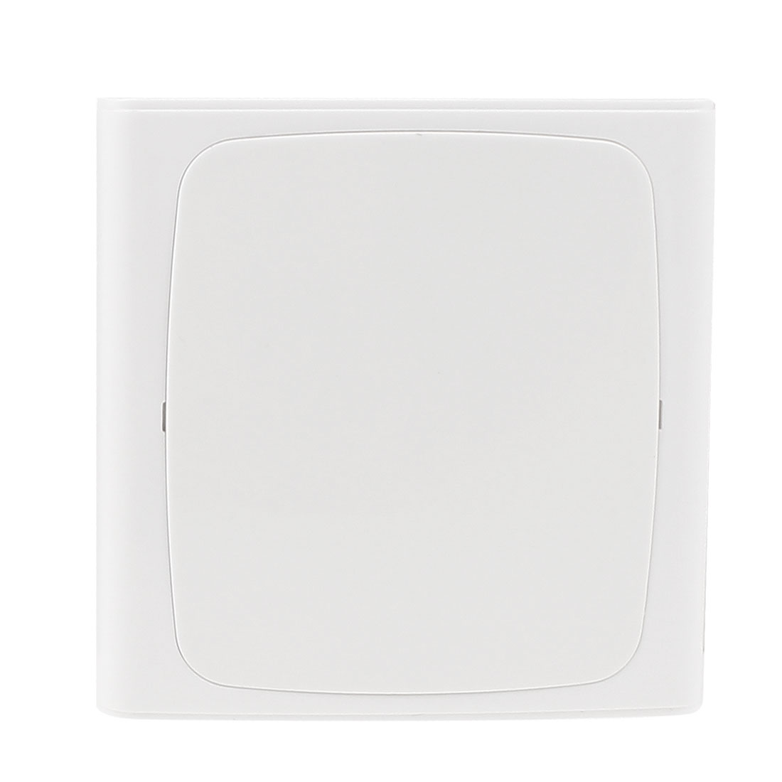 White Plastic Square Switch Socket Panel Blank Wall Plate 86x86mm