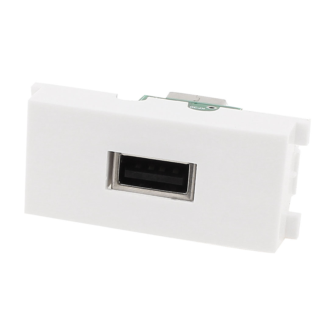 Straight USB 2.0 A Type Female to Female Module Wall Plate Socket Adapter White