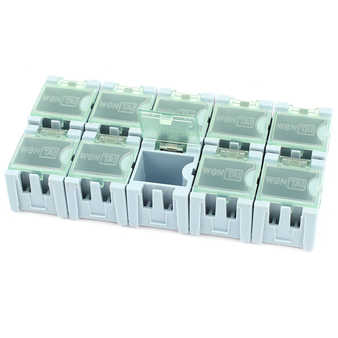 10 Pcs Plastic SMT SMD Electronic Components Storage Box Organizer