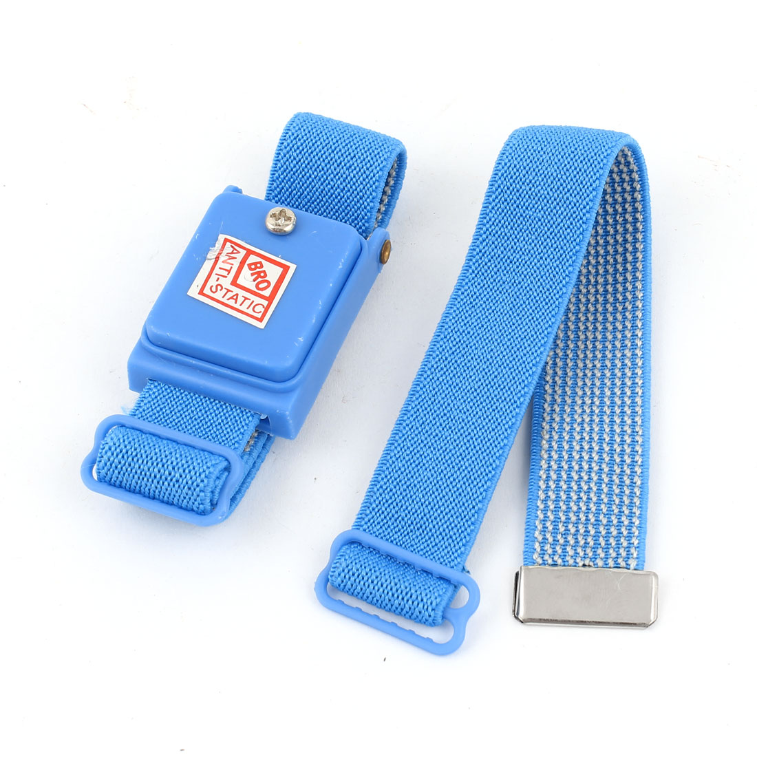 Blue ESD Anti Static Discharge Cordless Wrist Strap Wristband w Elastic Band