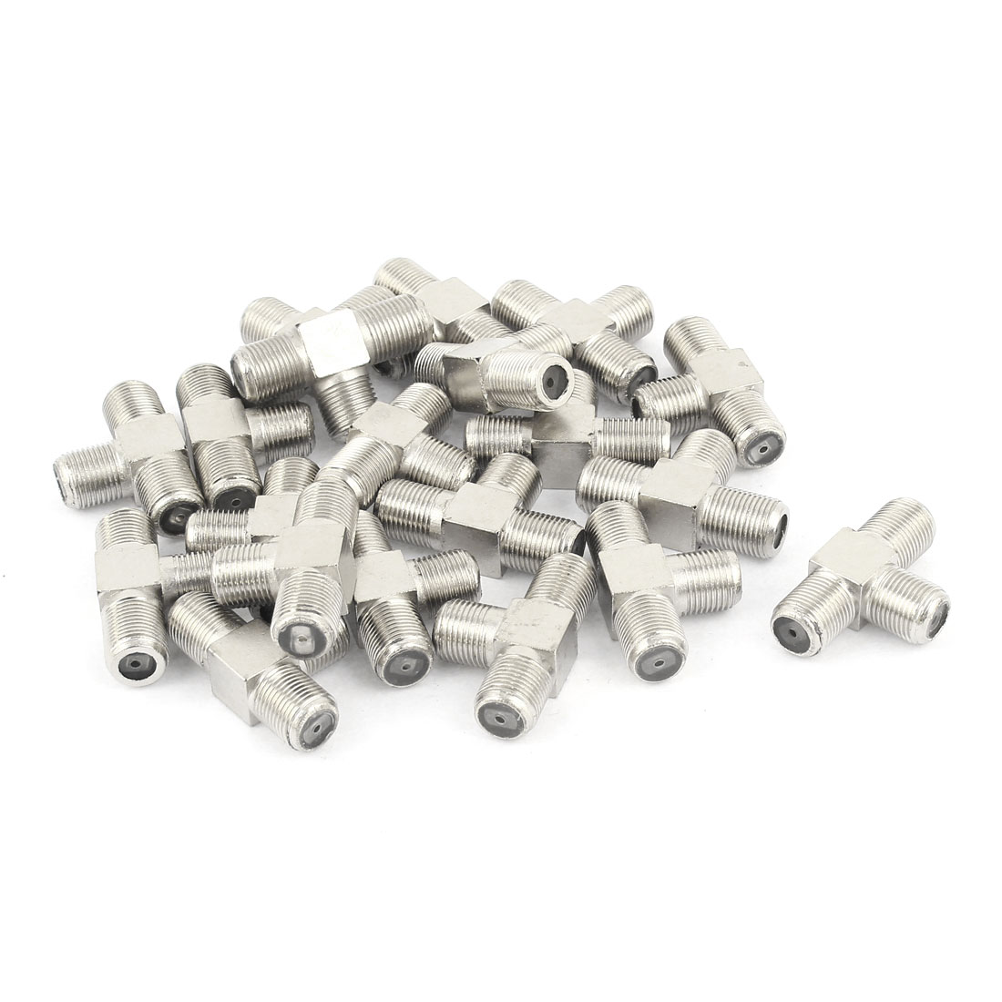 20 Pcs T Shaped 3 Way F Type Female Connector Adapter