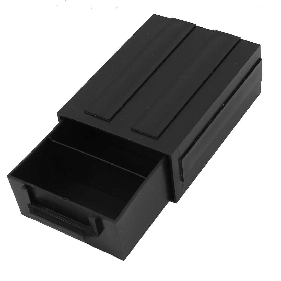 Black Plastic 3 Compartments Anti Static ESD IC Component Drawer Empty Box