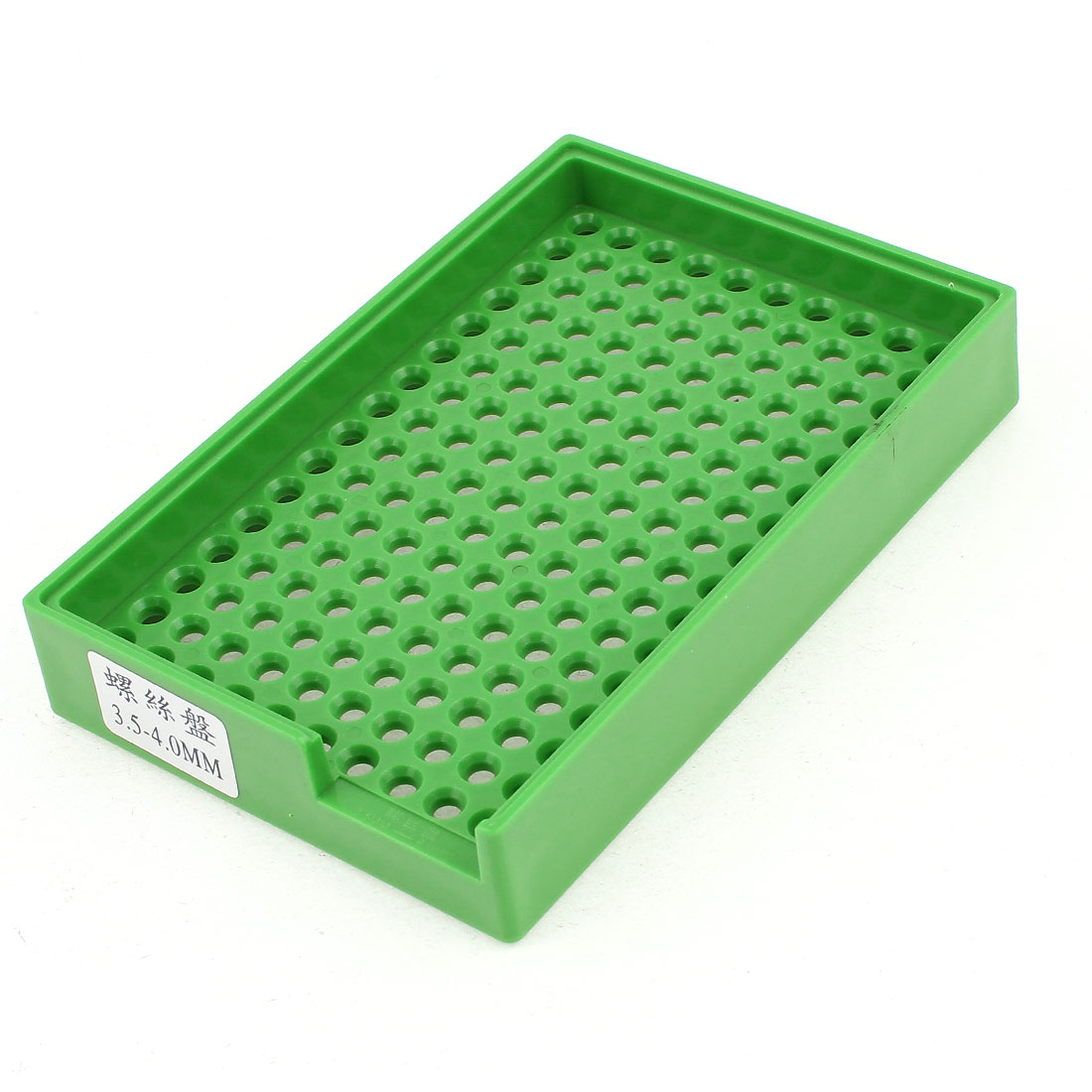 Anti-static Plastic Tray Holder Green 160 Holes for 3.5mm-4.0mm Screws