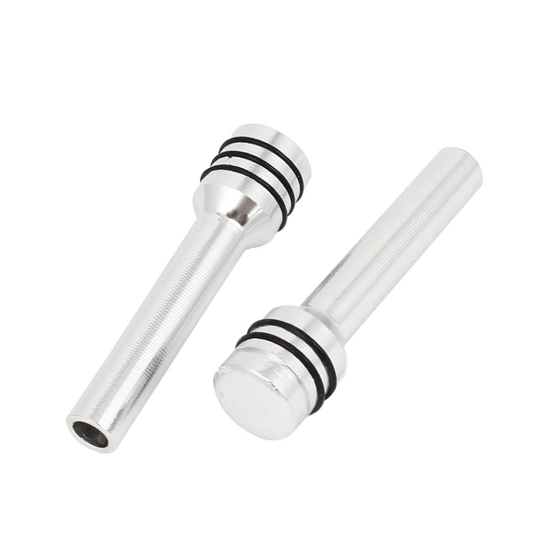 Vehicle Car Truck Aluminum Alloy Interior Door Lock Knobs Silver Tone 2 Pcs