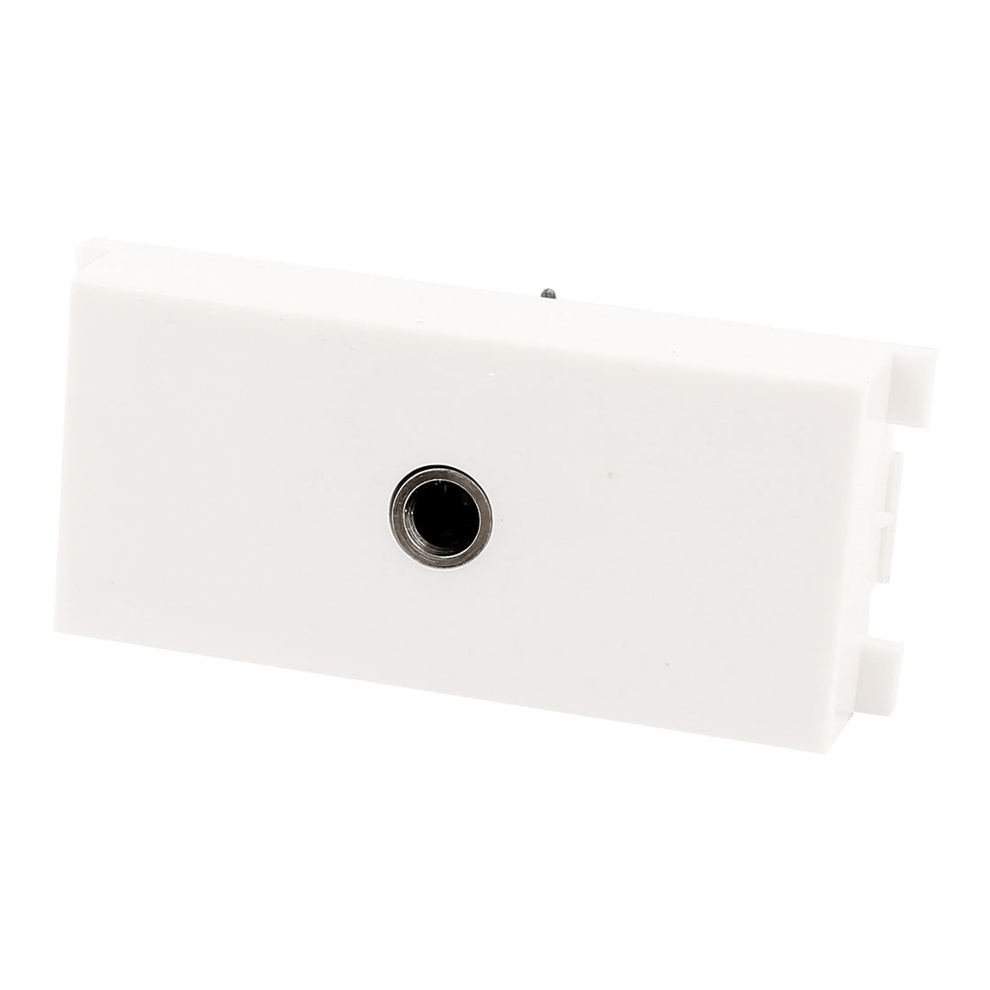 3.5mm Audio Female Jack Module Wall Plate Outlet Socket Adapter White