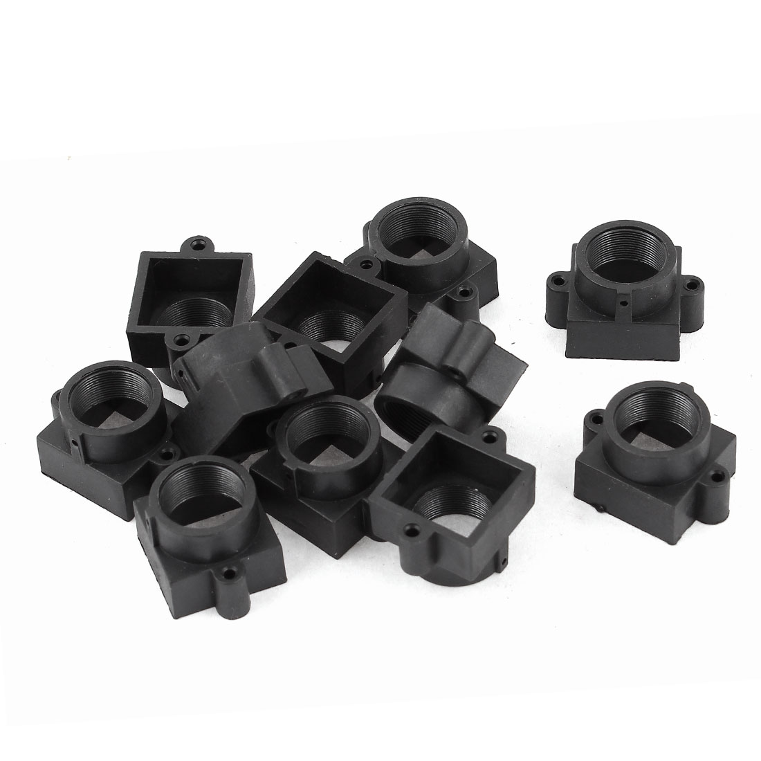 10 Pcs Black Plastic M12 20mm Hole Spacing Security CCTV Camera Lens Holder