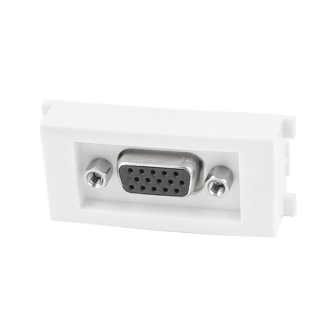 Straight VGA Female to Female Socket Module Wall Panel Plate White