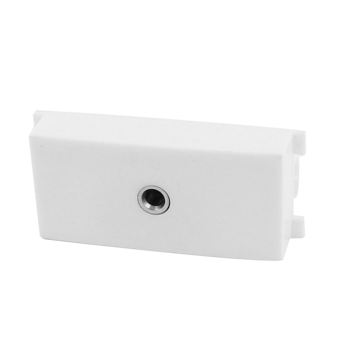 White Plastic 3.5mm Audio Solder Female Jack Module Wall Plate Socket Panel