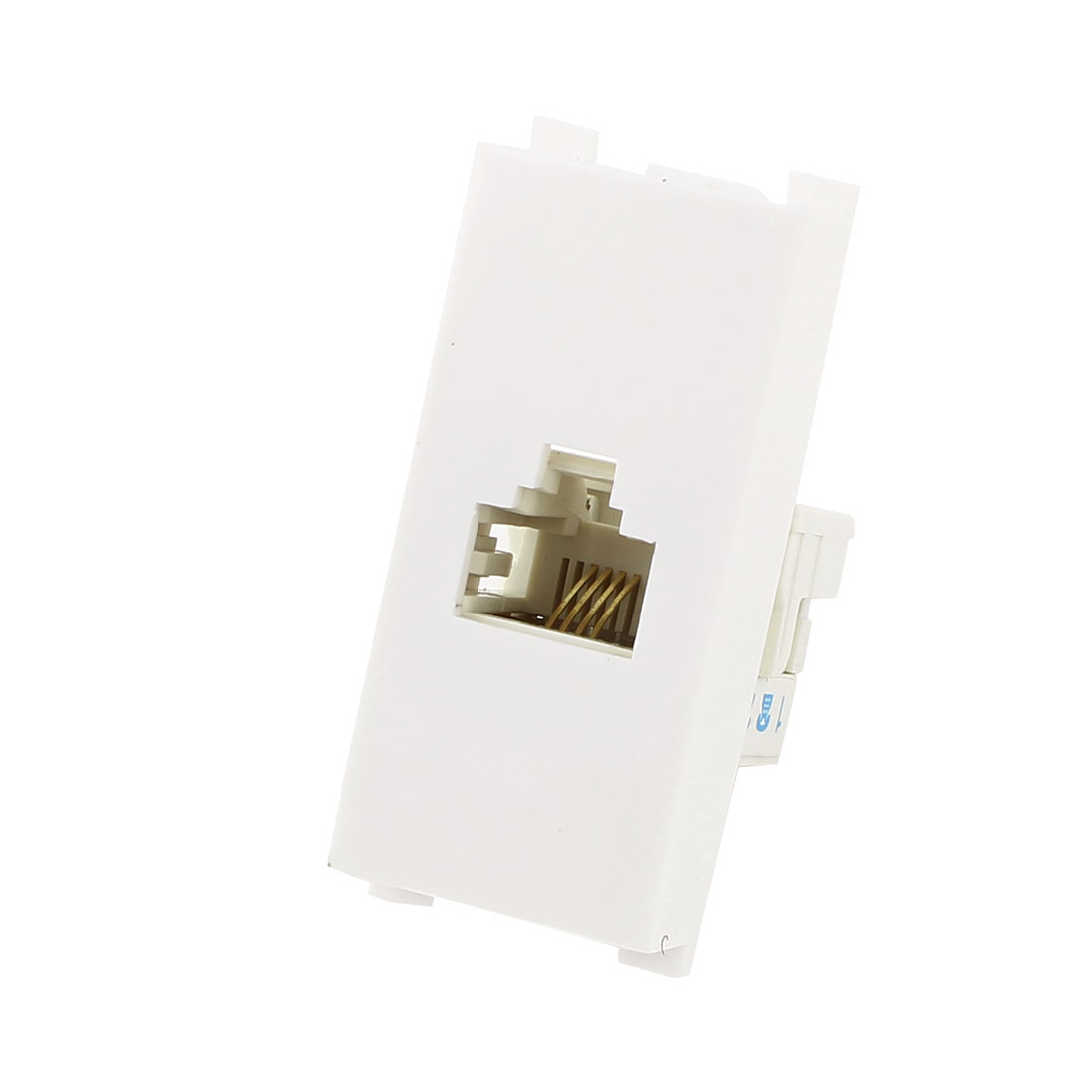 Telephone RJ11 6P4C Female Jack Module Wall Panel Plate White