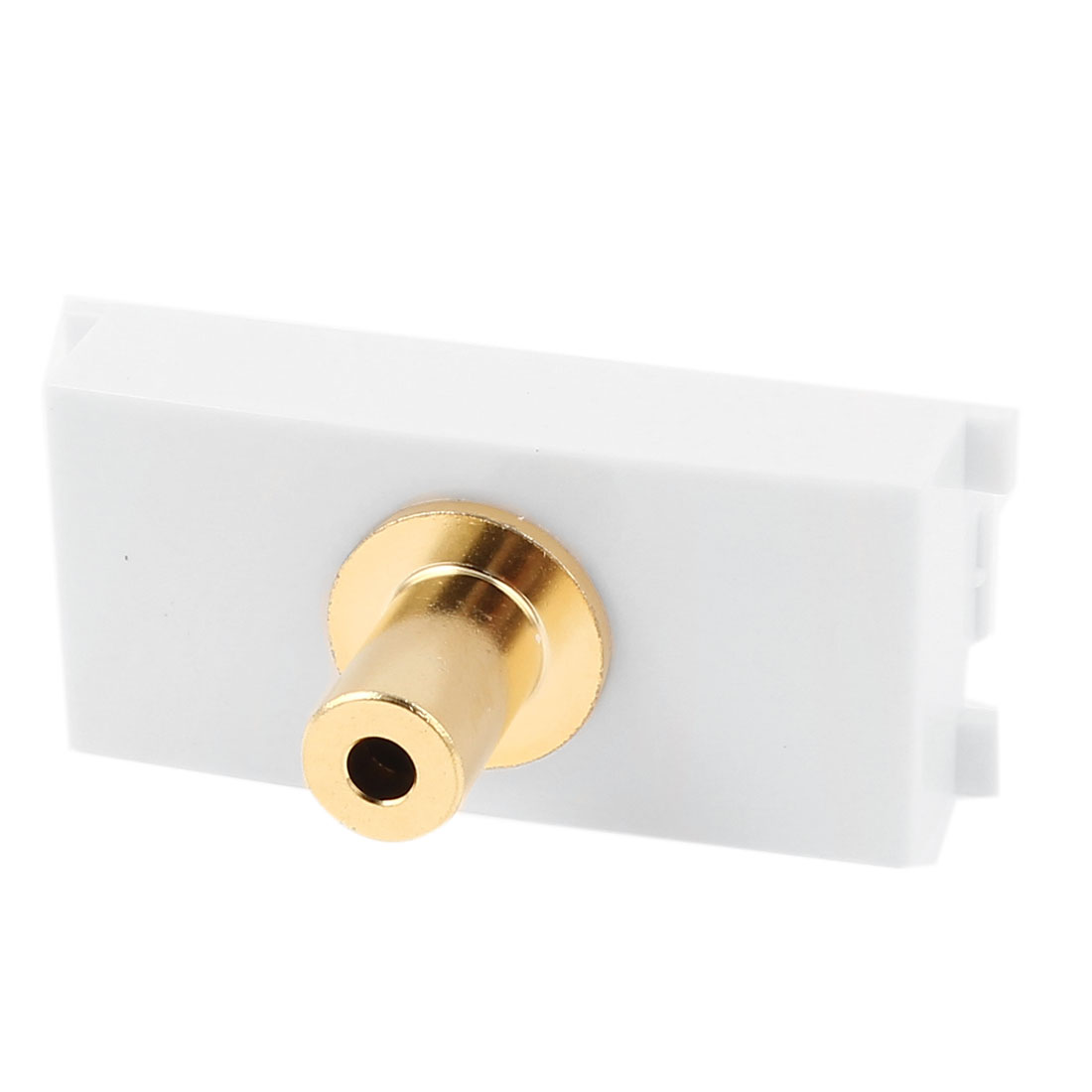 Straight 3.5mm Audio Female to Female Socket Module Wall Panel Plate White
