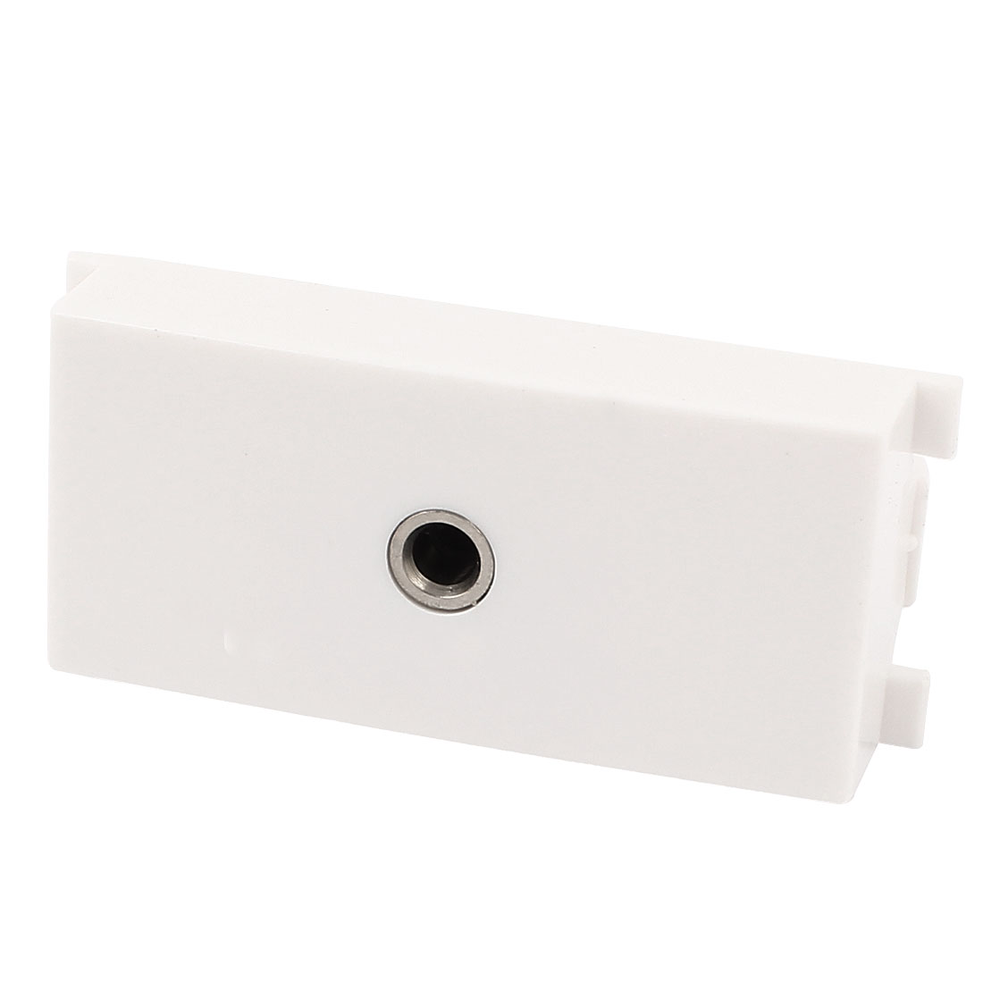 3.5mm Audio Screw Terminal Socket Female Jack Module Wall Panel Plate White