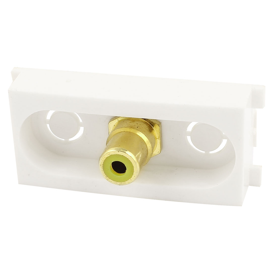 Straight Single AV RCA Coaxial Female to Female Module Wall Panel Plate