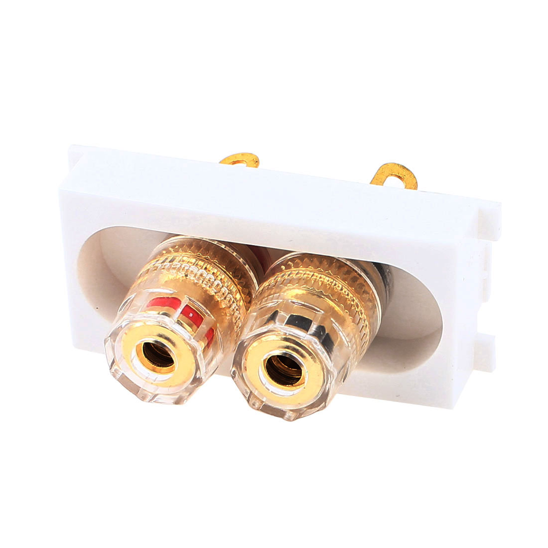 HiFi Audio Speaker Dual 4mm Banana Jack Binding Post Module Wall Panel Plate