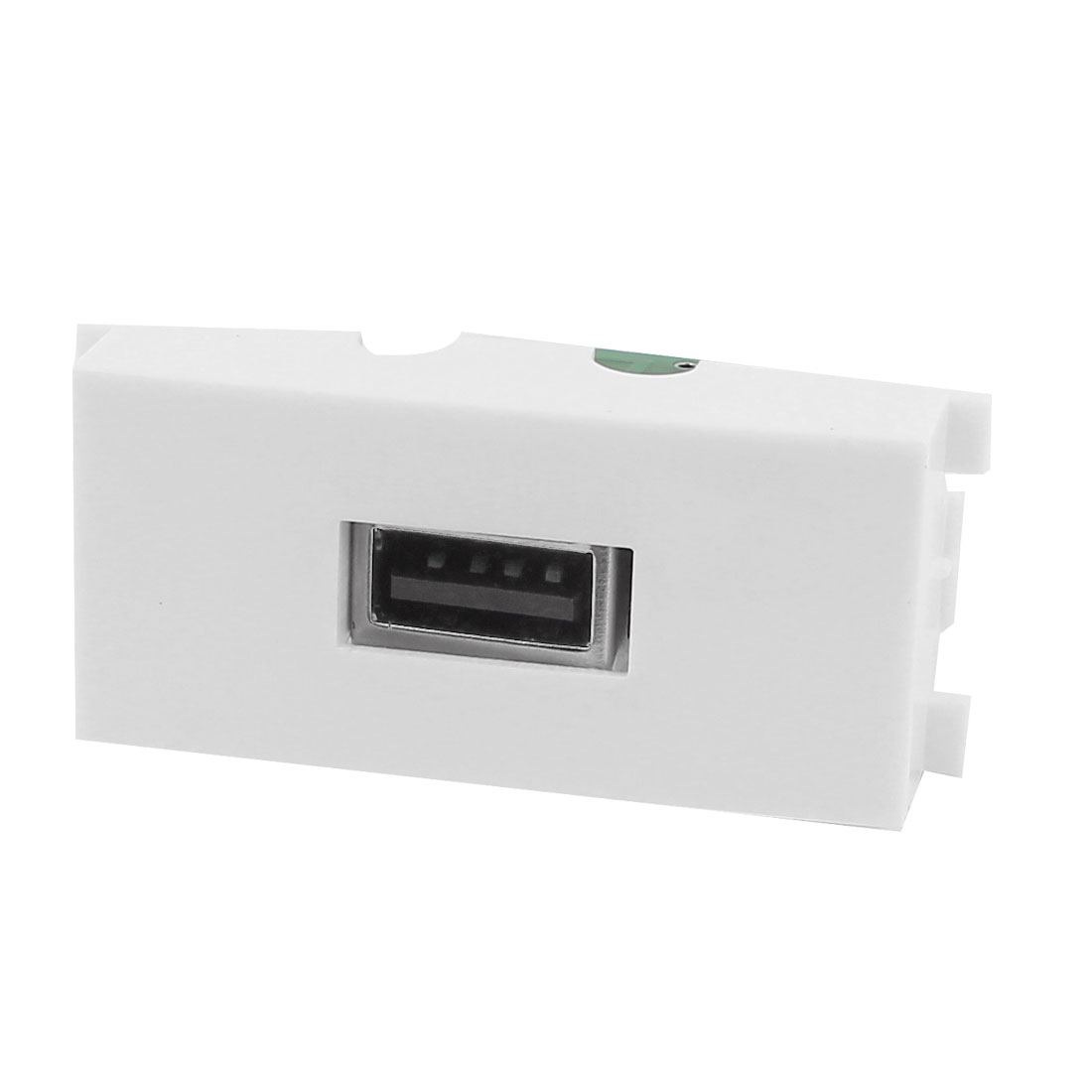 White Plastic USB A Type Female to Female Module Wall Panel Plate